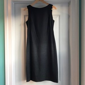 Theory ombré black and gray dress